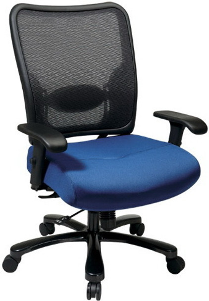 Mesh Back Big and Tall Chair with Custom Seat [75-7A773] -1