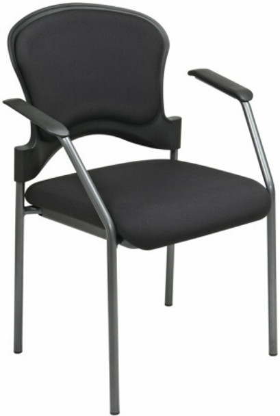 Office Star Padded Fabric Stacking Chairs [82710] -1