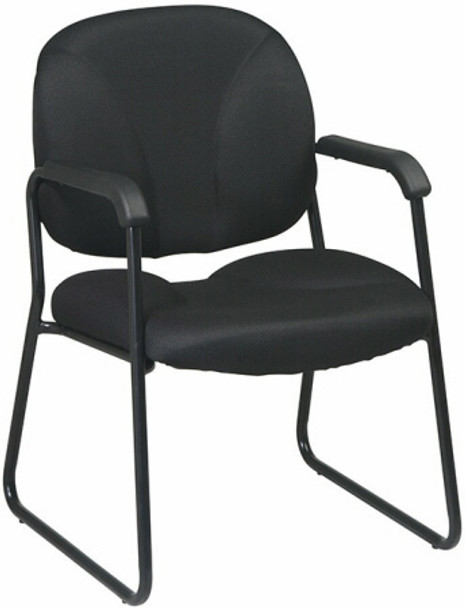 Sled Base Office Guest Chair with Arms by Office Star [EX3302] -1