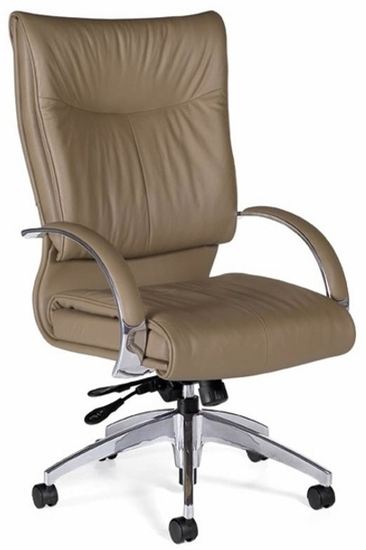 Global Softcurve Contemporary Leather Chair [4696LM-4] -1