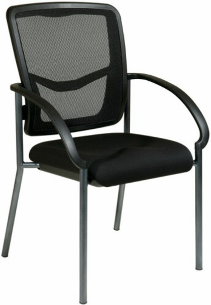 Titanium Finish Mesh Back Guest Chair with Arms [85670] -1