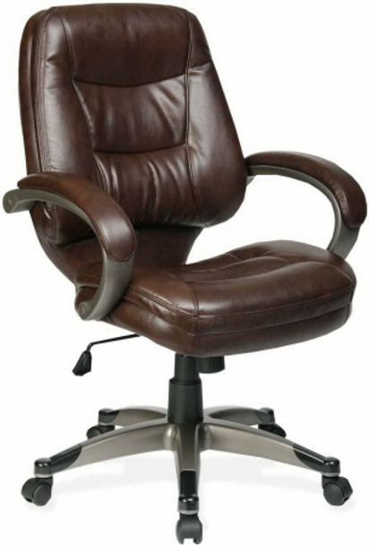 Lorell Westlake Mid Back Bonded Leather Chair [63281] -1