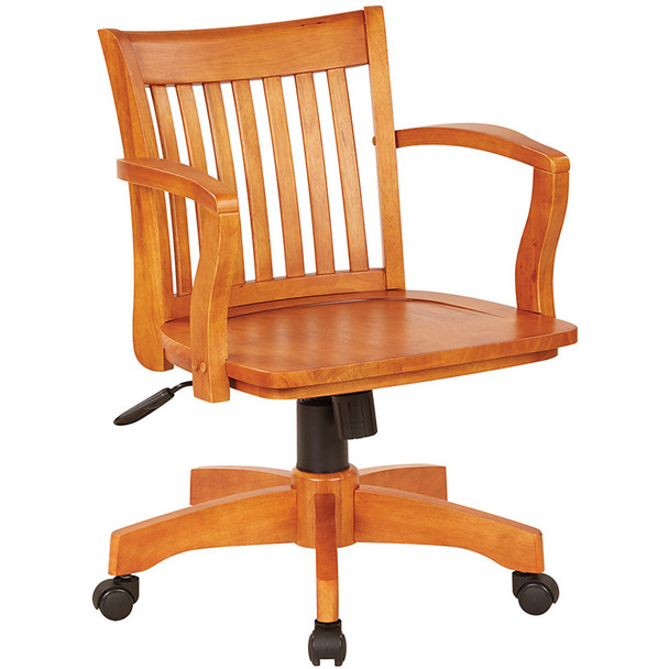 Office Star Wood Bankers Desk Chair [105] -1