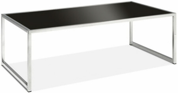 Yield Tempered Black Glass Coffee Table [YLD12] -1