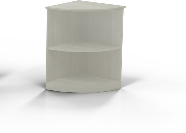 Mayline Medina Bookcase 2 Shelf 1/4 Round Textured Sea Salt [MVBQ2TSS]-1