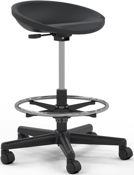 Mayline Adjustable Height Tech Stool [6005AG]-1