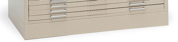 "Mayline C-Files Flush Base for 30""x42"" Sheets Sand Beige [7868WD5]-1"