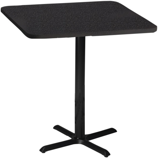 """Mayline Bistro 30"""" Square Bar Height Table Black Base [CA30SHBTANT]-1"""