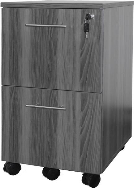 Mayline Medina Pedestal File-File Gray Steel [MNFFLGS]-1