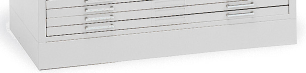 "Mayline C-Files Flush Base for 36""x48"" Sheets White [7869WG5]-1"