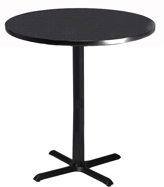 "Mayline Bistro 36"" Round Bar Height Table Black Base [CA36RHBTANT]-1"