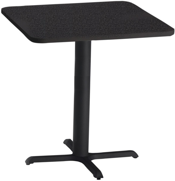 """Mayline Bistro 36"""" Square Bar Height Table Black Base [CA36SHBTANT]-1"""