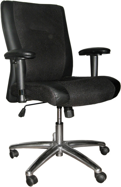 Mayline Mercado Leather Mid Back Executive Office Chair [2522]-1