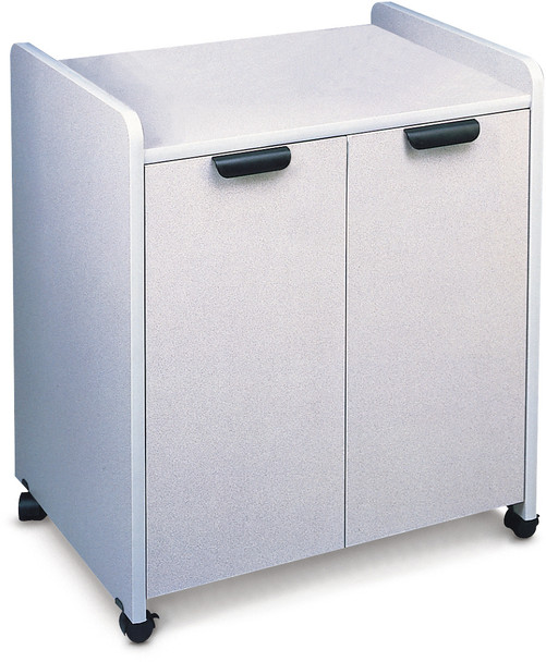 Mayline Mobile Utility Cabinets Laminate Exterior Black, Speckled Gray Matrix [2110MUNGRBLK]-1