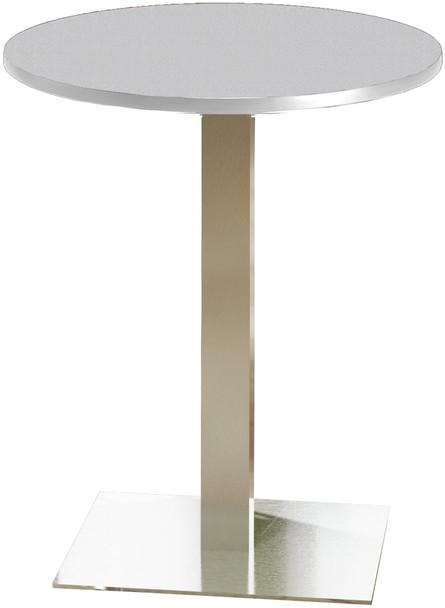"Mayline Bistro 30"" Round Bar Height Table Stainless Steel, Ice Gray [CA30RHSTFLK]-1"