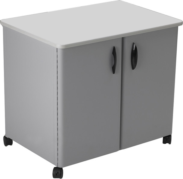 Mayline Mobile Utility Cabinets Steel Exterior Dove Gray [2160MUGRYGRY]-1