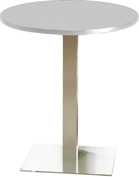 "Mayline Bistro 36"" Round Bar Height Table Stainless Steel, Ice Gray [CA36RHSTFLK]-1"