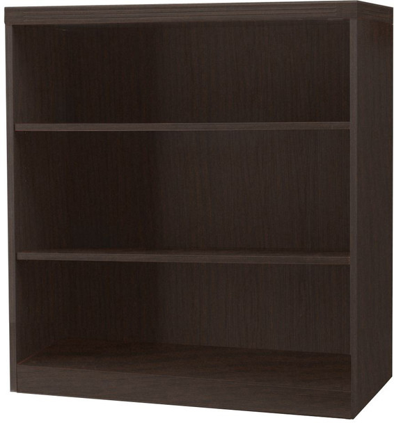 Mayline Aberdeen 3 Shelf Fixed Bookcase Mocha [AB3S36LDC]-1