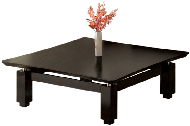 """Mayline Sterling 48"""" Square Coffee Table Textured Mocha [STCTTDC]-1"""