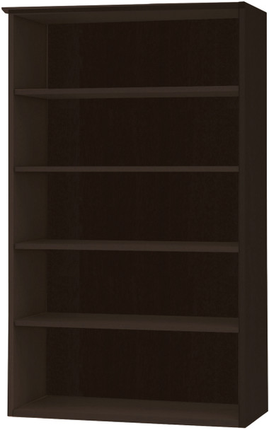 Mayline Medina Bookcase 5 Shelf Mocha Laminate [MVB5LDC]-1