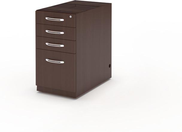 Mayline Aberdeen Desk PBBF Pedestal Mocha [APBBF26LDC]-1