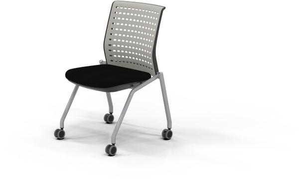 Mayline Thesis Training Chair Armless Black Fabric [KTS2SGBLK]-1