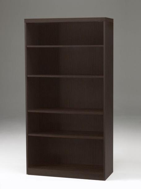 Mayline Aberdeen 5 Shelf Fixed Bookcase Mocha [AB5S36LDC]-1