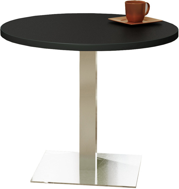 """Mayline Bistro 42"""" Round Dining Height Table Stainless Steel Base [CA42RLSTANT]-1"""