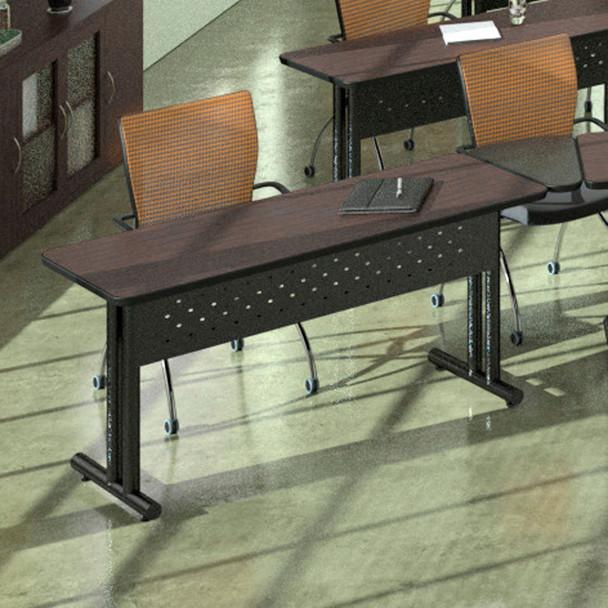 "Mayline Meeting Plus 60""x24"" Rectangular Table Sand Beige [M2460HKDVG1]-1"