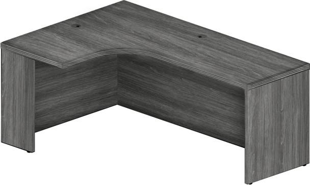 "Mayline Aberdeen 72"" Left Extended Corner Table Gray Steel [AEC72LLGS]-1"