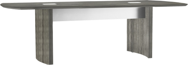Mayline Medina Conference Table 8' Gray Steel [MNC8LGS]-1