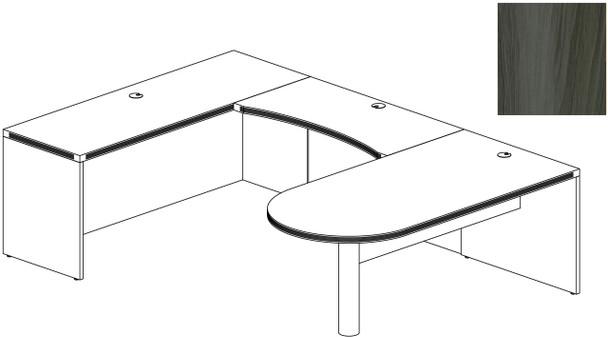 Mayline Aberdeen Office Desk Set Gray Steel [AT14LGS]-1