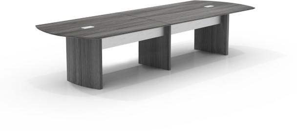 Mayline Medina 12' Conference Table Gray Steel Laminate [MNC12LGS]-1