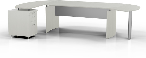 Mayline Medina Office Desk Set Textured Sea Salt [MNT2TSS]-1