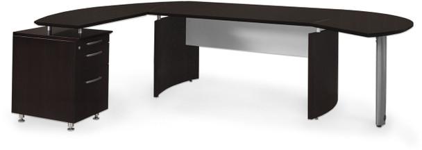 Mayline Medina Office Desk Set Mocha [MNT2LDC]-1