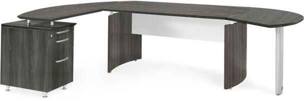 Mayline Medina Office Desk Set Gray Steel [MNT2LGS]-1
