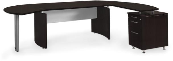 Mayline Medina Office Desk Set Mocha [MNT4LDC]-1