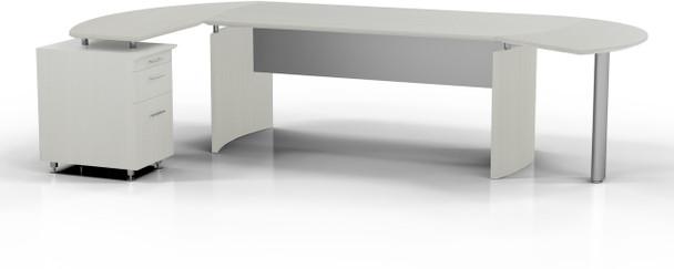 Mayline Medina Office Desk Set Textured Sea Salt [MNT5TSS]-1