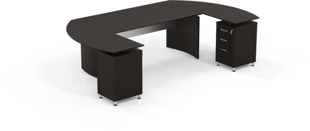 Mayline Medina Office Desk Set Mocha [MNT3LDC]-1
