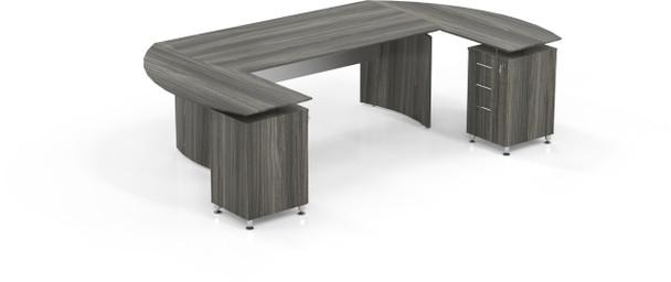 Mayline Medina Office Desk Set Gray Steel [MNT3LGS]-1