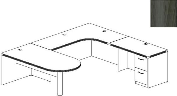 Mayline Aberdeen Office Desk Set Gray Steel [AT13LGS]-1
