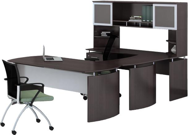 Mayline Medina Office Desk Set Mocha [MNT33LDC]-1