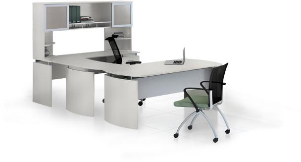 Mayline Medina Office Desk Set Textured Sea Salt [MNT34TSS]-1