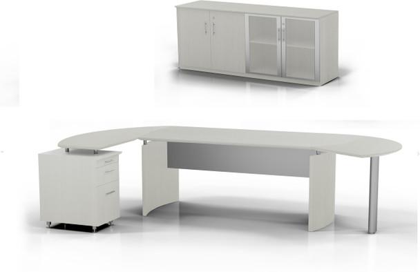 Mayline Medina Office Desk Set Textured Sea Salt [MNT8TSS]-1