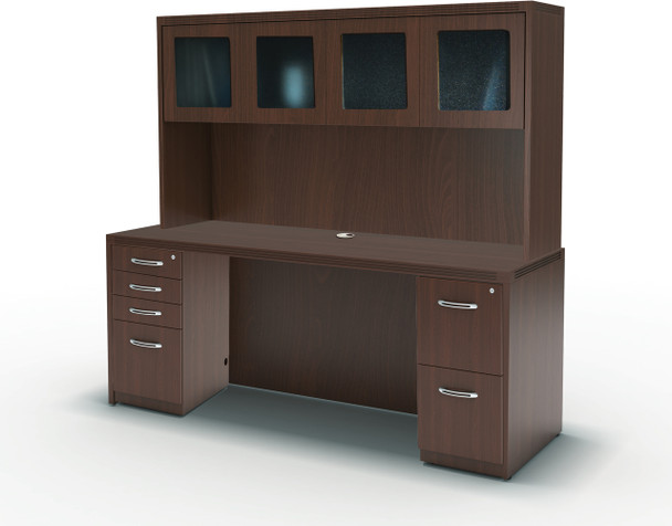 Mayline Aberdeen Office Desk Set Mocha [AT34LDC]-1