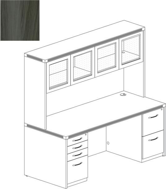Mayline Aberdeen Office Desk Set Gray Steel [AT34LGS]-1