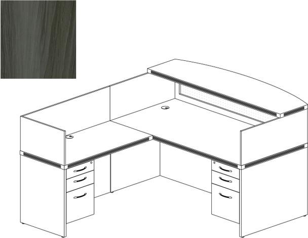 Mayline Aberdeen Office Desk Set Gray Steel [AT36LGS]-1