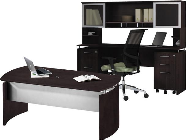 Mayline Medina Office Desk Set Mocha [MNT38LDC]-1