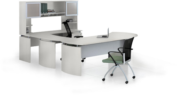 Mayline Medina Office Desk Set Textured Sea Salt [MNT29TSS]-1