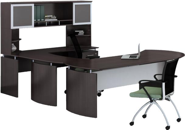 Mayline Medina Office Desk Set Mocha [MNT29LDC]-1